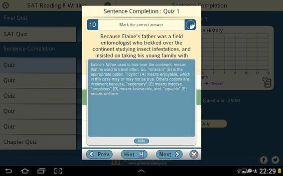 SAT : Reading & Writing FREE screenshot 9
