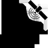 GPS lurking monitor movements icon