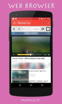 Media Clip Video Downloader captura de pantalla 1
