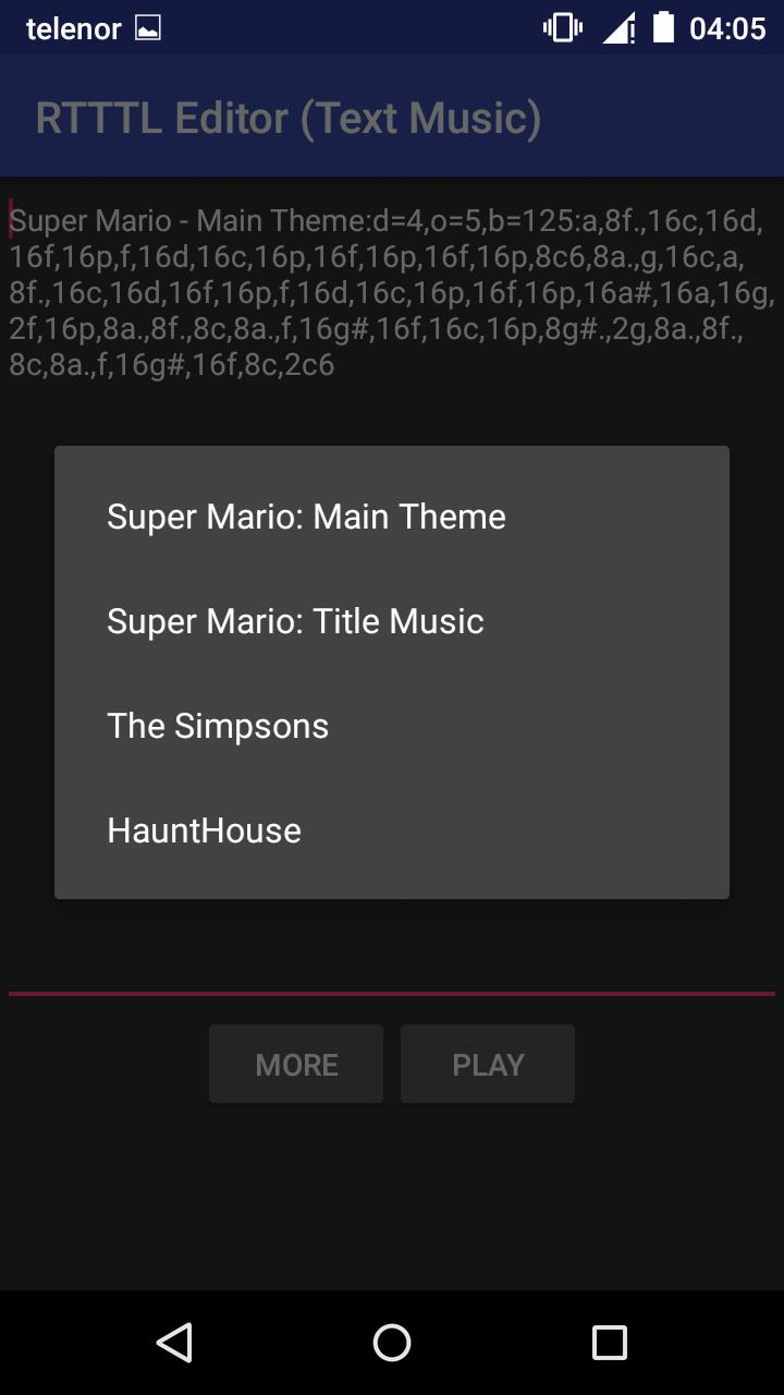 RTTTL Editor (Text Music) for Android - APK Download