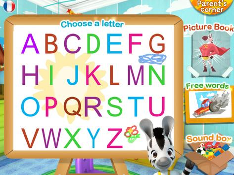 Learn the alphabet with Zou poster