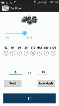 The Dicer - A dice roller apk screenshot