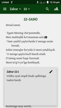 Muqaddas Kitob apk screenshot