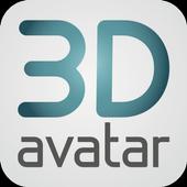 3D avatar feet icon