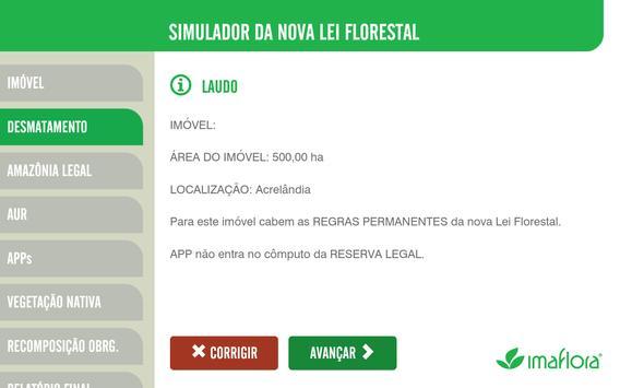 Simulador do Código Florestal imagem de tela 4