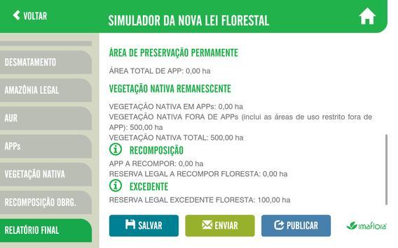 Simulador do Código Florestal imagem de tela 5