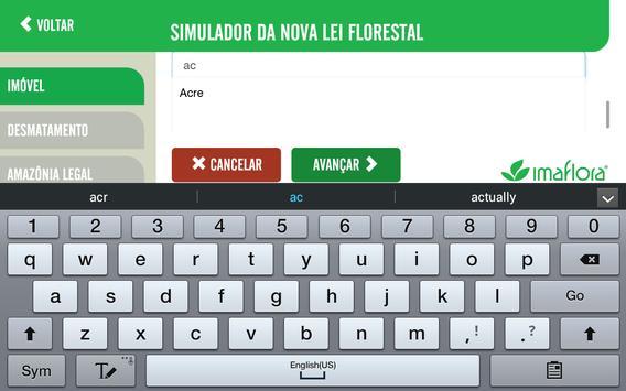 Simulador do Código Florestal imagem de tela 6