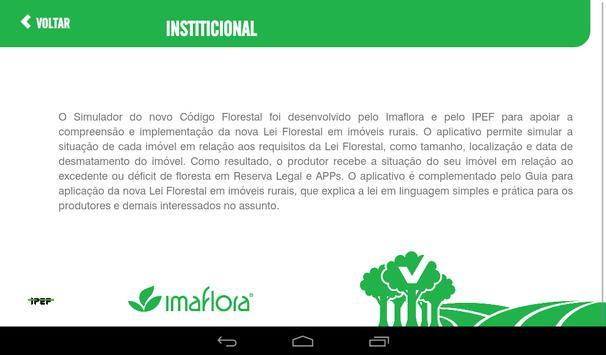 Simulador do Código Florestal imagem de tela 8