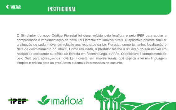 Simulador do Código Florestal imagem de tela 2