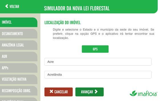 Simulador do Código Florestal imagem de tela 3