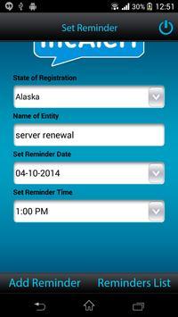 IncAlert - Corp Renewal Alert screenshot 3