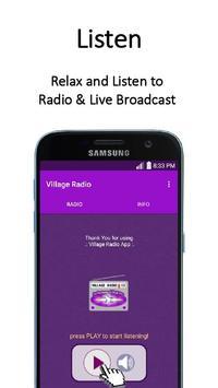 Village Radio App poster