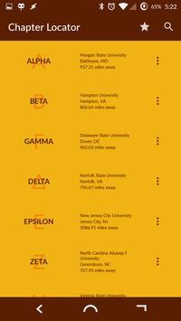 Iota Phi Theta Chapter Locator poster