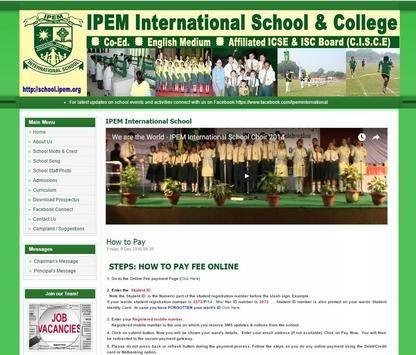 IPEM School poster