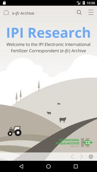 Fertilizer Research by the IPI poster