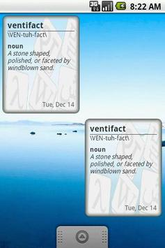 Mensa Word of the Day Widget poster
