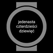 Icona Zegarek Tekstowy