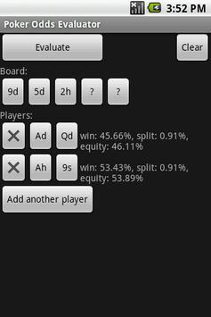 Poker Odds Evaluator poster