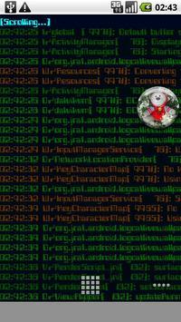 Logcat Live Wallpaper (lite) apk screenshot