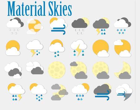 Material Skies Weather Icons apk screenshot