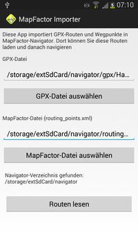 Route-Importer for MapFactor screenshot 1