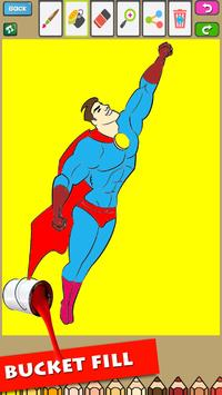 Super Hero Coloring for Kids screenshot 1