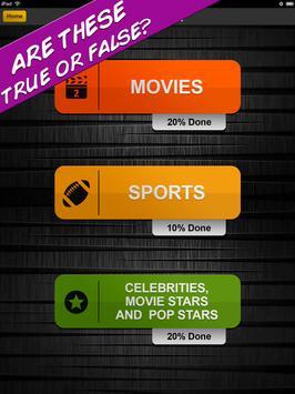 True or False Quiz Fun Game apk screenshot