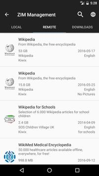 Kiwix, Wikipedia offline apk screenshot