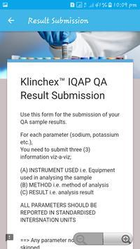 Klinchex™ IQAP screenshot 2