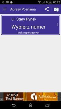 Adresy Poznania apk screenshot