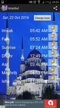 Turkey Prayer Timings -Islamic poster