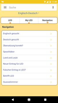 LEO dictionary apk screenshot