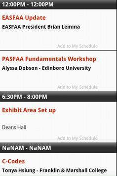 PASFAA 2013 Conference screenshot 1