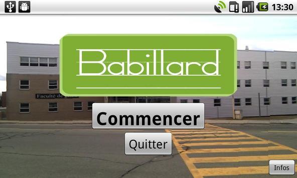Babillard poster