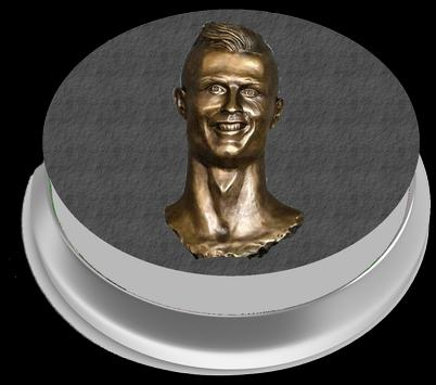 CR7 Siuu Button poster