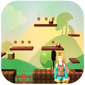 Super girl - Super World - adventure run 3D icon