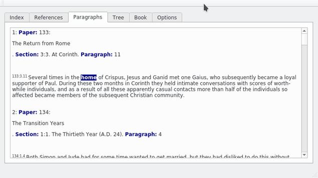 Urantia Multiple Word and Thesaurus Search screenshot 1