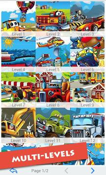 Cartoon Vehicles For Kids poster