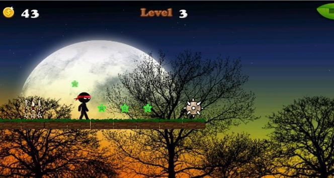 Hopping Ninja Speed screenshot 1