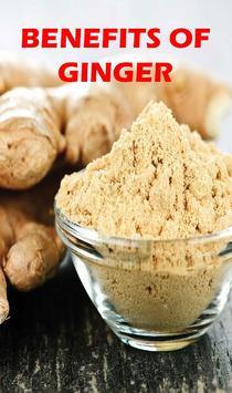 Benefits of Ginger (ADU) poster