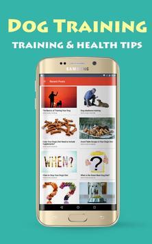 Dog Training & Health Tips poster