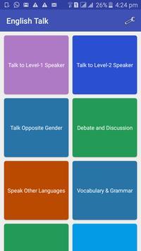 English Talk poster