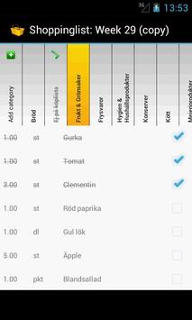 Shoppinglist apk screenshot