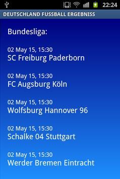 Deutschland Fussball Ergebniss apk screenshot