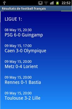 French soccer results apk screenshot