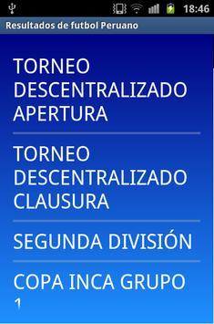 Futbol Perú Resultados poster