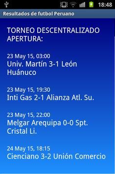 Futbol Perú Resultados apk screenshot