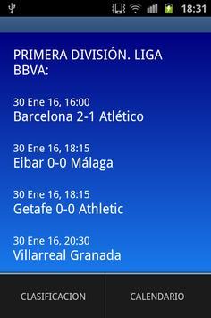 Spanish Football Scores apk screenshot