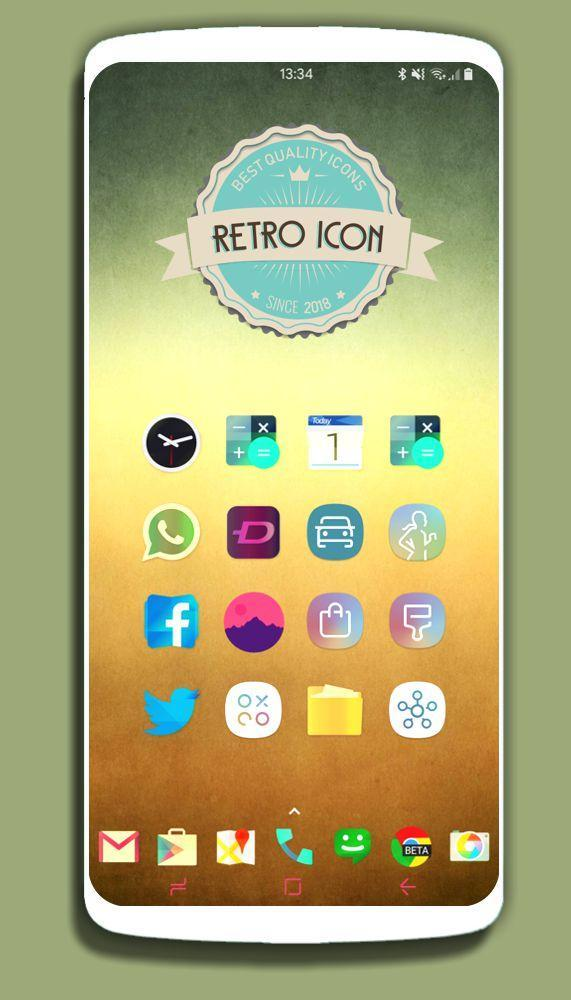 RETRO - ICON Pack Vintage Theme 2019 fullhd for Android - APK Download