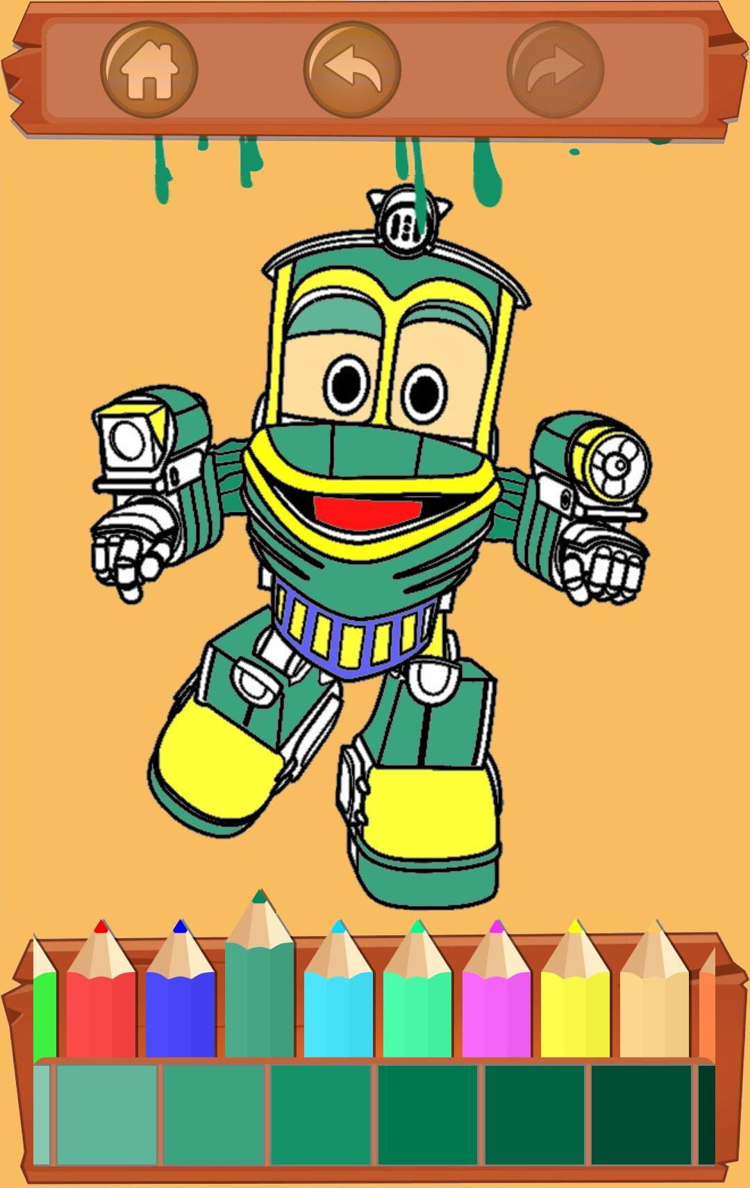 Free Coloring Pages For Robot Train安卓下載 安卓版apk